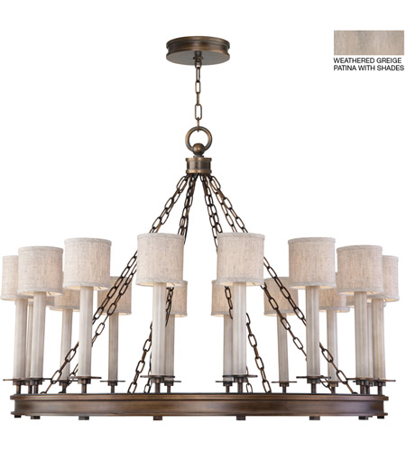 Fine Art Lamps 888740-21ST Cienfuegos 16 Light 44 inch Gray Chandelier Ceiling Light photo thumbnail