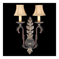 Fine Art Lamps Stile Bellagio 2 Light Sconce in Tortoise Leather Crackle 115950ST