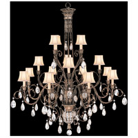 Fine Art Lamps A Midsummer Nights Dream 16 Light Chandelier in Cool Moonlit Patina 136740ST
