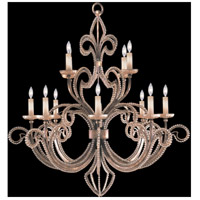 Fine Art Lamps A Midsummer Nights Dream 12 Light Chandelier in Cool Moonlit Patina 137140-2ST