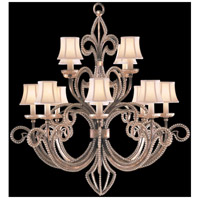Fine Art Lamps A Midsummer Nights Dream 12 Light Chandelier in Cool Moonlit Patina 137140ST