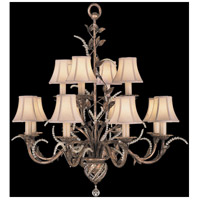 Fine Art Lamps 138540ST A Midsummer Nights Dream 12 Light 35 inch Cool Moonlit Patina Chandelier Ceiling Light