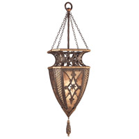 Fine Art Lamps Villa 1919 1 Light Pendant in Rich Umber w/ Gilded Accents 155749ST