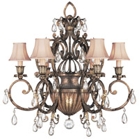 Fine Art Lamps A Midsummer Nights Dream 7 Light Chandelier in Cool Moonlit Patina 161740ST