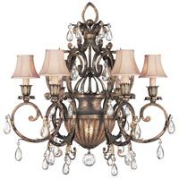 Fine Art Lamps 161740ST A Midsummer Nights Dream 7 Light 34 inch Cool Moonlit Patina Chandelier Ceiling Light