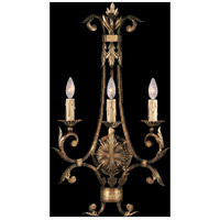 Fine Art Lamps A Midsummer Nights Dream 3 Light Sconce in Cool Moonlit Patina 162150ST