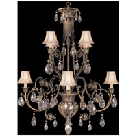 Fine Art Lamps 162740ST A Midsummer Nights Dream 8 Light 38 inch Gold Chandelier Ceiling Light