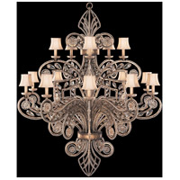 Fine Art Lamps 163940ST A Midsummer Nights Dream 15 Light 60 inch Cool Moonlit Patina Chandelier Ceiling Light