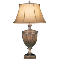Verona 36 inch 50 watt Antique Veronese Gold Table Lamp Portable Light