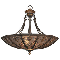 Fine Art Lamps Villa 1919 3 Light Pendant in Rich Umber w/ Gilded Accents 179942ST