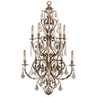 Fine Art Lamps 180940ST Verona 10 Light 36 inch Antique Veronese Gold Chandelier Ceiling Light
