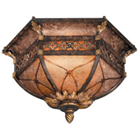 Villa 1919 2 Light 23 inch Rich Umber w/ Gilded Accents Flush Mount Ceiling Light