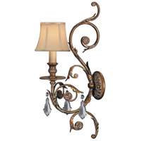 Verona 1 Light 8 inch Antique Veronese Gold Sconce Wall Light