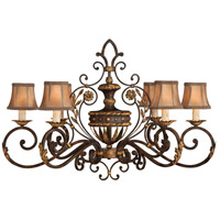Castile 6 Light 39 inch Gold Leaf and Antiqued Chandelier Ceiling Light