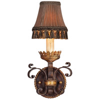 Castile 1 Light 8 inch Antiqued Iron and Warm Gold Leaf Sconce Wall Light