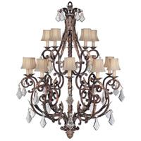 Fine Art Lamps 226540ST Stile Bellagio 15 Light 45 inch Tortoise Leather Crackle Chandelier Ceiling Light