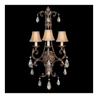 Fine Art Lamps Stile Bellagio 3 Light Sconce in Tortoise Leather Crackle 227150ST