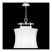 Fine Art Lamps Black + White Story 1 Light Pendant in Studio White Satin Lacquer 233449-5ST
