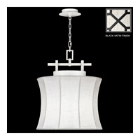 Fine Art Lamps Black + White Story 1 Light Pendant in Black Satin Lacquer 233449-6ST