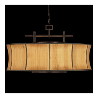 Fusion 3 Light 32 inch Oxidized Bronze Patina Pendant Ceiling Light