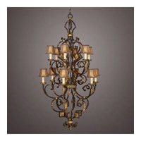 Castile 12 Light 38 inch Warm Antiqued and Gold Leaf Chandelier Ceiling Light