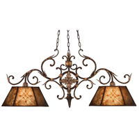Villa 1919 2 Light 46 inch Rich Umber w/ Guilded Accents Island Fixture Ceiling Light