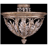 Fine Art Lamps Winter Palace 3 Light Semi-Flush Mount in Warm Antiqued Silver 300440ST
