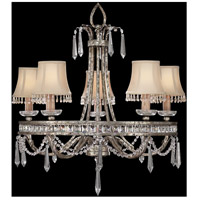 Winter Palace 5 Light 29 inch Warm Antiqued Silver Chandelier Ceiling Light