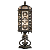 Costa del Sol 3 Light 33 inch Marbella Wrought Iron Outdoor Pier Mount