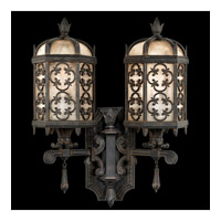 Fine Art Lamps Costa del Sol 2 Light Outdoor Wall Mount in Marbella Wrought Iron 329581ST