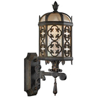 Fine Art Lamps 329881ST Costa del Sol 1 Light 20 inch Black Outdoor Wall Mount