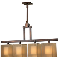 Quadralli 4 Light 44 inch Rich Bourbon Chandelier Ceiling Light