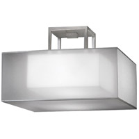 Quadralli Silver 2 Light 17 inch Silver Leaf Semi-Flush Mount Ceiling Light