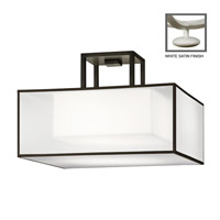 Fine Art Lamps Black and White Story 2 Light Semi-Flush Mount in Studio White Satin Lacquer 330740-5ST