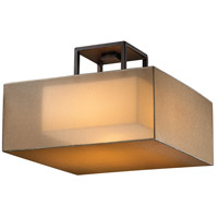 Quadralli 2 Light 17 inch Rich Bourbon Semi-Flush Mount Ceiling Light