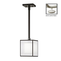 Fine Art Lamps Black + White Story 1 Light Drop Light in Studio White Satin Lacquer 331040-5ST