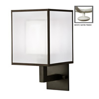 Fine Art Lamps Black + White Story 1 Light Sconce in Studio White Satin Lacquer 331150-5ST