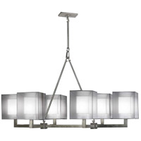 Fine Art Lamps 331440-2ST Quadralli 6 Light 48 inch Silver Chandelier Ceiling Light