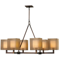 Fine Art Lamps 331440ST Quadralli 6 Light 48 inch Bronze Chandelier Ceiling Light