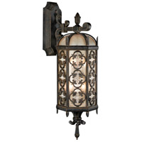 Costa del Sol 3 Light 33 inch Marbella Wrought Iron Outdoor Wall Mount