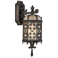 Fine Art Lamps 338581ST Costa del Sol 1 Light 20 inch Black Outdoor Wall Mount
