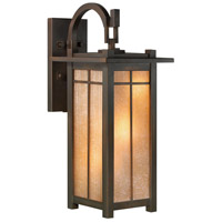 Capistrano 3 Light 30 inch Warm Bronze Patina Outdoor Wall Mount