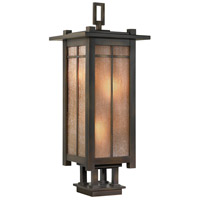 Capistrano 4 Light 32 inch Warm Bronze Patina Outdoor Pier Mount