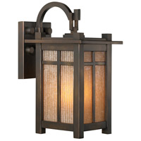 Capistrano 1 Light 13 inch Warm Bronze Patina Outdoor Wall Mount