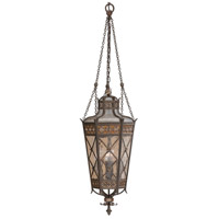 Fine Art Lamps Chateau Outdoor 4 Light Outdoor Lantern in Variegated Rich Umber Patina 402582ST