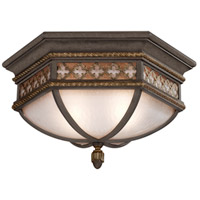 Chateau Outdoor 2 Light 21 inch Variegated Rich Umber Patina Outdoor Flush Mount