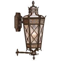 Chateau Outdoor 4 Light 32 inch Variegated Rich Umber Patina Outdoor Wall Mount
