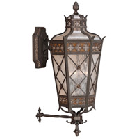 Chateau Outdoor 4 Light 37 inch Rich Umber Patina With Gold Accents Outdoor Wall Sconce