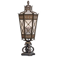 Chateau Outdoor 5 Light 35 inch Variegated Rich Umber Patina Outdoor Pier Mount