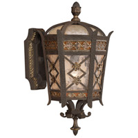 Chateau Outdoor 1 Light 15 inch Variegated Rich Umber Patina Outdoor Wall Mount